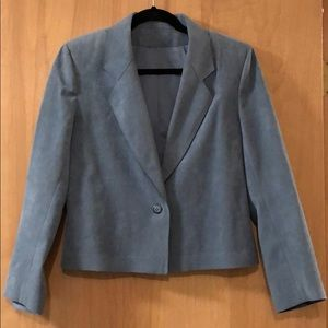 Jackets & Blazers - Beautiful lined pale blue suede blazer/jacket